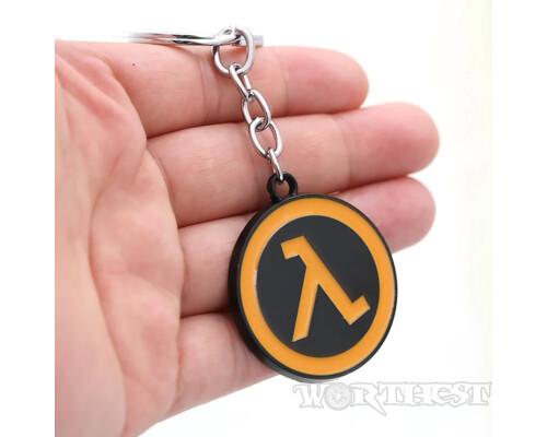 Брелок Half-Life от Valve стальной, с логотипом игры научная фантастика!