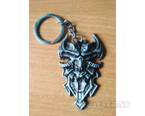 Стальной брелок Diablo игры Blizzard Диабло!