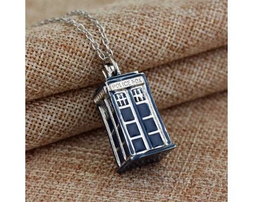 Медальон Тардис Доктор Кто сериал Tardis стальной кулон Doctor Who!
