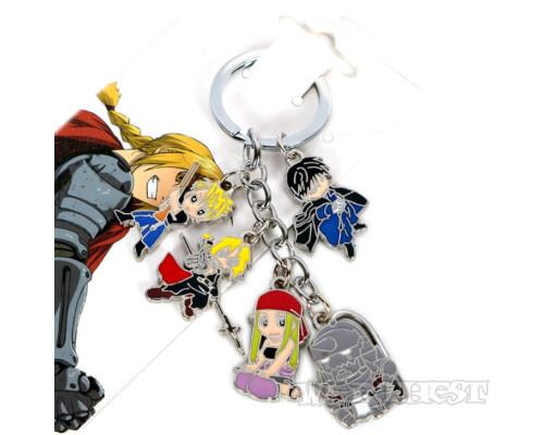 Брелок Набор 5в1! персонажей из Стального Алхимика (Fullmetal Alchemist)