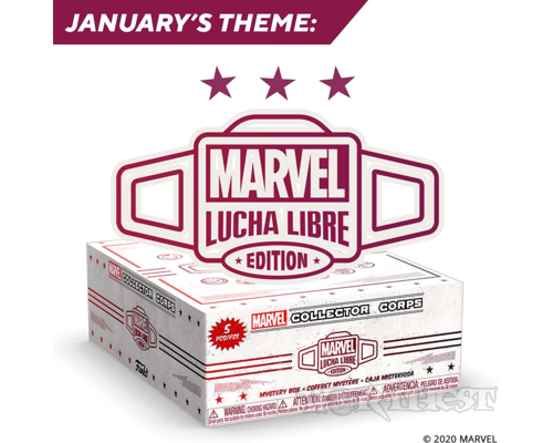 Бокс Funko Marvel Collector Corps Box (AMB: ): Marvel Luchadores Exclusive!