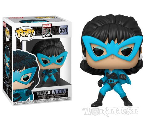 Фигурка Funko Pop Marvel 80th Black Widow Чёрная Вдова 551 80th Anniversary