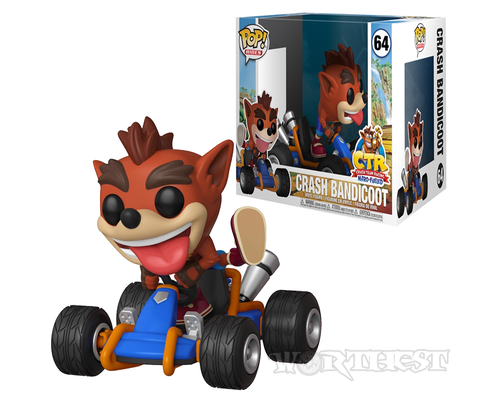 Фигурка Funko POP! Crash Team Racing Crash Bandicoot Rides Крэш Бандикут