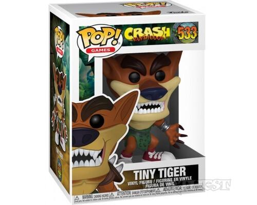 Фигурка Funko POP! Тигр Тайни (Tiny Tiger) Crash Bandicoot Крэш Бандикут 533
