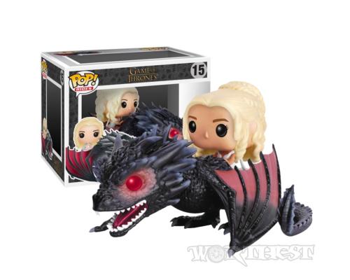 Фигурка Funko POP! Rides Game of Thrones Daenerys on Fiery Drogon Дрогон 68