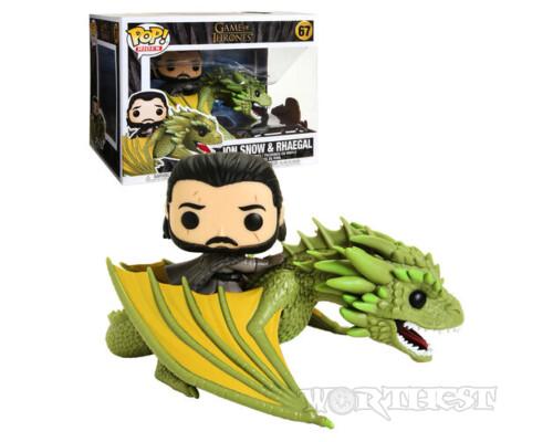 Фигурка Funko POP! Rides Game Of Thrones Jon Snow & Rhaegal Игра престолов