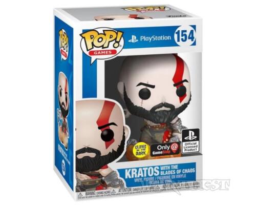 Фигурка Funko POP! God of War Kratos with The Blades of Chaos 154 Кратос!