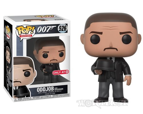 Фигурка Funko POP! James Bond - Oddjob w/ Hat Голдфингер Оджобб 526!