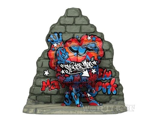 Фигурка Funko POP! Deluxe: Marvel Уличное Искусство Spider-Man #762!
