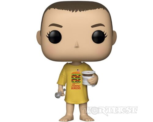 Фигурка - Funko POP Stranger Things Eleven|Одиннадцать in Burger T-Shirt #718