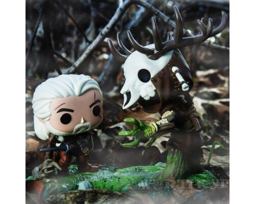 Фигурка Funko POP! The Witcher 3: Wild Hunt Geralt vs Leshen Game Moments 2-Pack