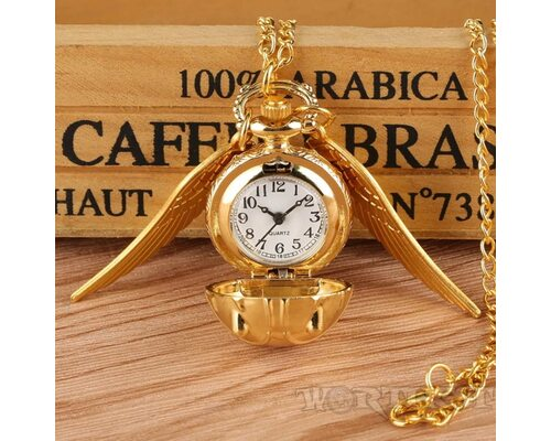"Кулон часы ""Золотой Снитч"" медальон карманные Гарри Поттер Оригинал!"
