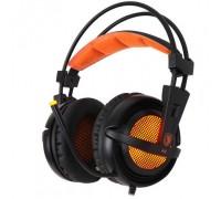 Наушники Sades A6 7.1 Surround Sound Black/Orange (SA6-BO) оранжевые!