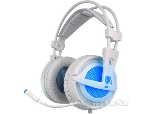 Наушники игровые Sades A6 7.1 Surround Sound White (SA6-BO) белые!