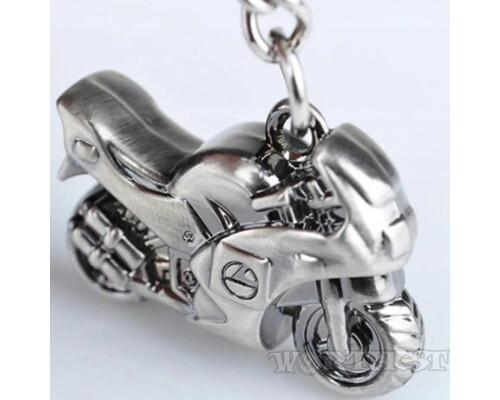 Брелок стальной Мотоцикл для мотоциклиста мото стильный подарок