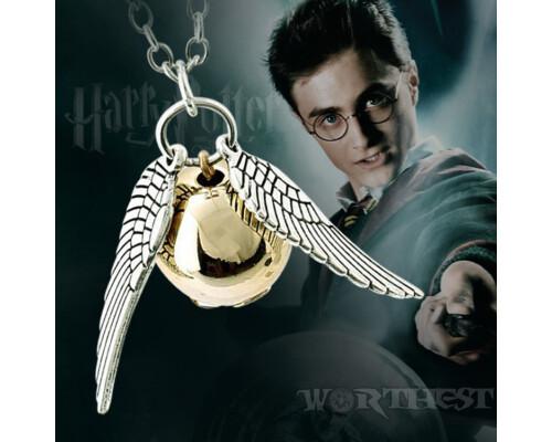 Золотой Снитч, кулон-подвеска медальйон брелок из фильма Гарри Поттер