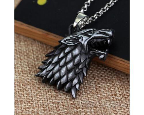 Медальон СТАРКИ голова Лютоволка Игра Престолов Game Of Thrones!