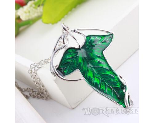 Кулон Эльфийский Лист Лориэн Lord of the Rings Властелин колец Elven Leaf