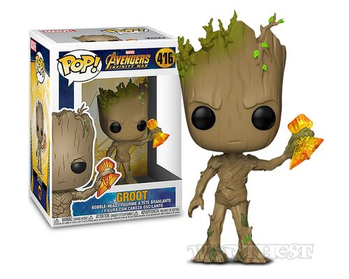 Фигурка Funko POP Marvel Грут - Avengers Infinity War - Groot with Stormbreaker #416!
