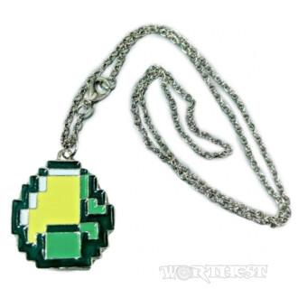 Кулон на цепочке Алмаз из Майнкрафта (Minecraft) руда стальной медальон