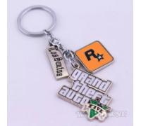 Стальной Брелок GTA 5, Rockstar, Los Santos 3в1 Гта 5 подарок Pubg!