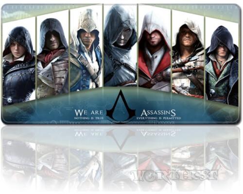 """Игровой коврик для мыши """"Девиз Ассасина"""" 80х30см Assassin's Creed"""