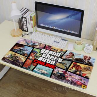 Игровой коврик для мыши GTA 5 Online мышки 80х30см Grand Theft Auto V Гта