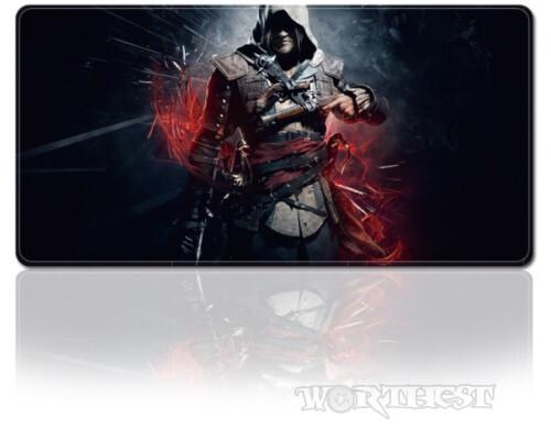 Большой коврик для мыши Assassin's Creed 80x30см Ассасин PC!