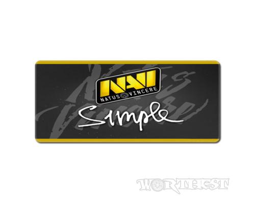 """Игровой коврик для мыши NAVI с автографом """"Simple"""" 80x30 Нави CSGO"""