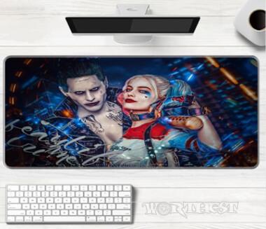 """80х30см! Коврик для мыши """"Харли Квинн и Джокер"""" DC Comics Harley Quinn мышки"""