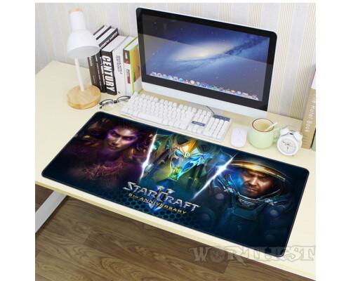 """Игровой коврик """"Starcraft"""" для мыши большой 80х30см шов Старкрафт!"""