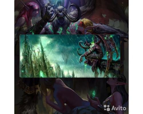 [Warcraft] Коврик для мышки Иллидан/illidan Большой 80х30!
