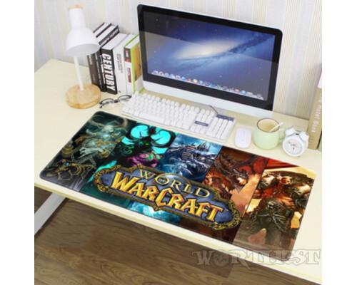 """Игровой коврик для мыши """"Герои World of Warcraft"""" 80x30см шов!"""