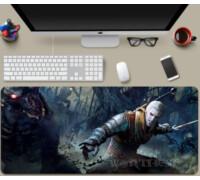 Игровой коврик XXL - Геральт против гулей - 80х30см Geralt(Witcher) для мыши!