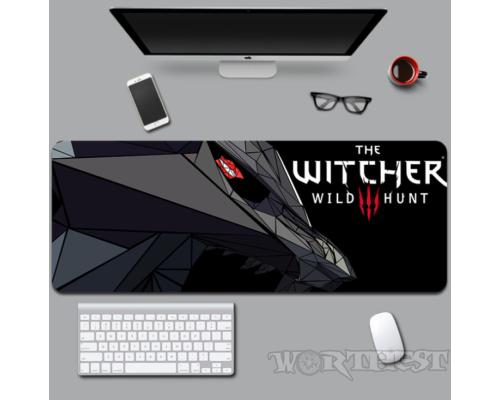 Большой коврик The Witcher 3: Wild Hunt для мыши Ведьмак медальон мышки