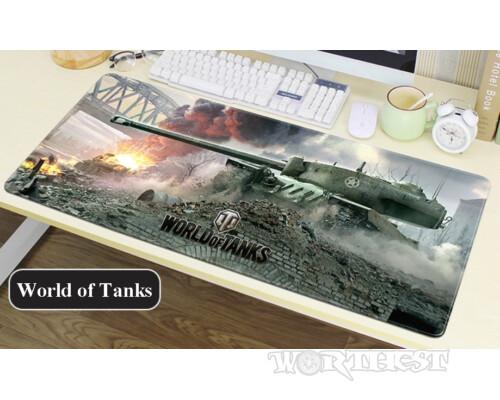 Игровой Коврик Танки World of Tanks! Для мыши WoT шов 80х30см игры!