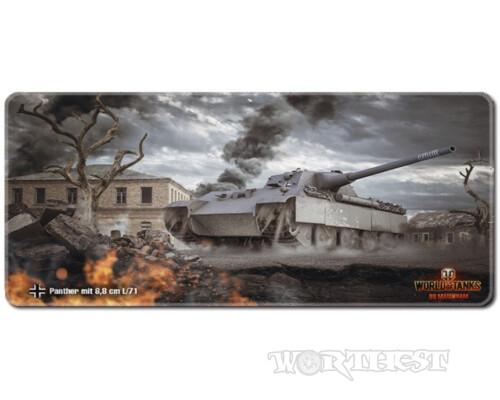 """Игровой коврик для мыши """"Немецкий танк Пантера"""" World of tanks 80x30"""
