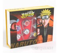 """Набор колец Наруто """"Акацуки 10шт"""" регулируются аниме Naruto в коробочке"""