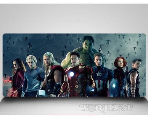 "Коврик для мыши 80х30 ""Avengers"" Marvel супергерои комиксы!"
