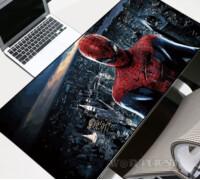 Большой коврик для мыши Человек Паук (Spiderman) на фоне города 80х30