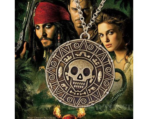 Кулон «Монета Ацтеков» медальон Елизабет Суонн Пираты Карибского Моря!