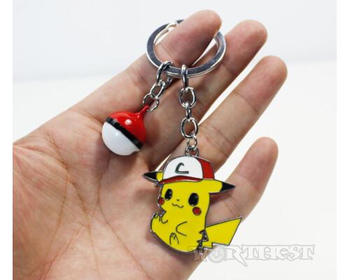 Брелок малый Pikachu(Пикачу́) покебол Покемон аниме(anime) игры