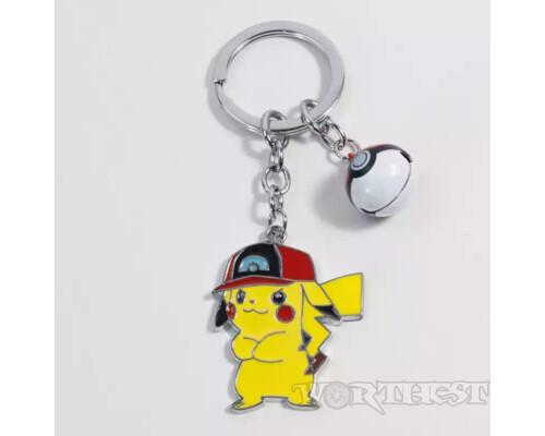 Брелок крутой Pikachu(Пикачу́) покебол Покемон аниме(anime) игры