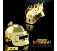 """Стальной золотой Брелок """"LEVEL 3 Helmet"""" игры PUBG шлем Battlegrounds!"""