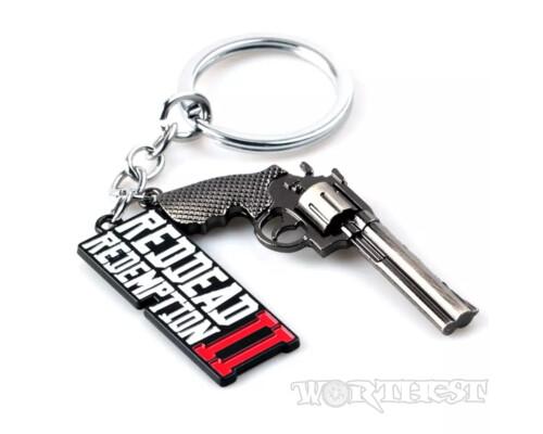 [RDR2] Брелок Red Dead Redemption 2 Револьвер/лого Игры!