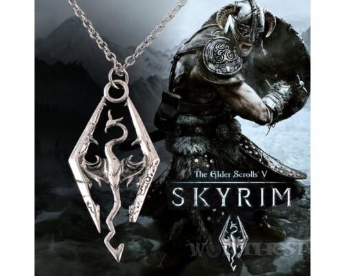 """Медальон The Elder Scrolls V: Skyrim - """"Дракон"""" металлический игры!"""