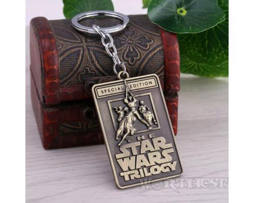 Брелок Star Wars стальной жетон лого Trilogy Звездные войны!