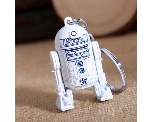 Брелок стальной R2-D2 (Р2-Д2) Звездные войны (Star Wars) двусторонний!