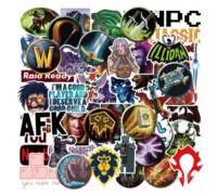 """50шт/сет! Наклейки """"World of Warcraft"""" варкрафт игры стикеры Warcraft 3!"""
