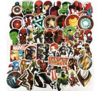 """50шт/Сет! Наклейки """"Marvel Comics"""" стикеры DC Люди Икс супергерой набор!"""